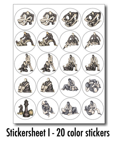 Stickersheet I (20 Color Stickers)