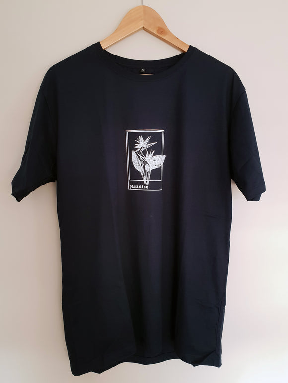 Navy Blue Bird Of Paradise Tee