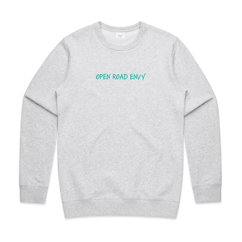Open Road Envy White/Blue Marle Sweater