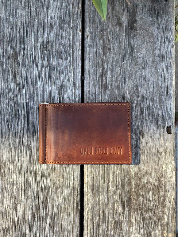 ORE. Men's Leather Wallet- Brown