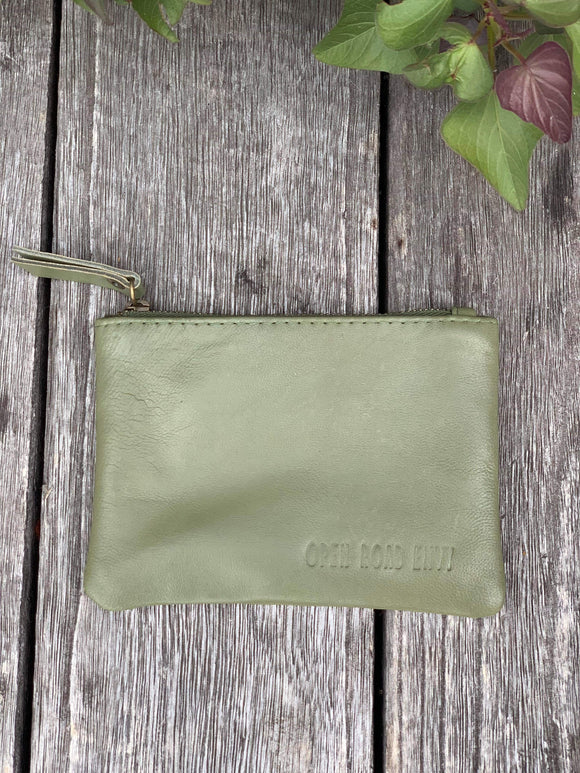 ORE. Leather Clutch - Olive
