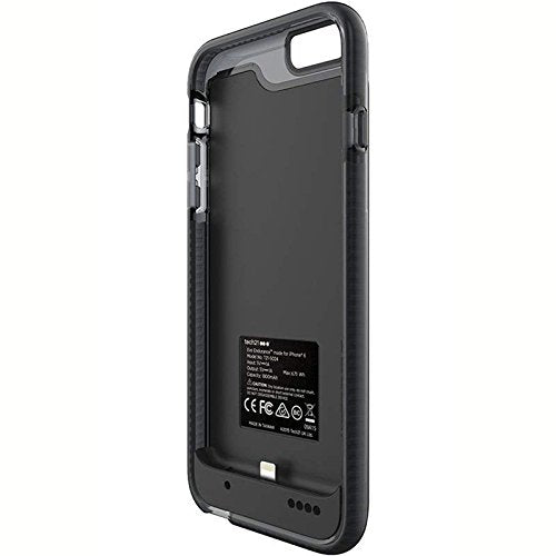 buy online 296c2 76345 Tech21 Evo Endurance 1800mAh Ultra Slim Lithium Ceramic Battery Portable  Charger Case for Apple iPhone 6/6S (Smoky / Black)