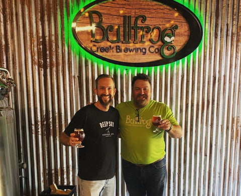 Deep Sky Coffee founder with Bullfrog Creek found. Collaboration with Bullfrog Creek Brewing:  Operation Deep Sky white stout