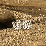 Square hammered studs