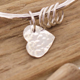 Hammered Bangle Additional Hearts