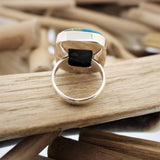 Silver and Copper Turquoise Ring