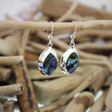 Silver and Abalone Hook Earrings