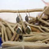 Silver and Labradorite Hook Earrings