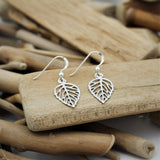 Silver Leaf Hook Earrings