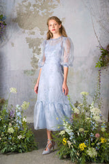 Blue Wedding Dress by Luisa Beccaria
