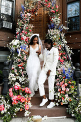 Elaine Welteroth Stoop Wedding at Home