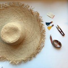 How to Make Tassels - Raffia Sun Hat Kit by Genevieve Rose Atelier