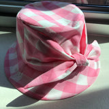Pink Gingham Bucket Hat by Genevieve Rose Atelier