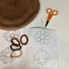 DIY Embroidered Beret Kit by Genevieve Rose Atelier