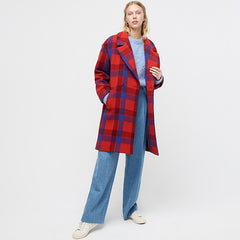 J.Crew Plaid Top Coat