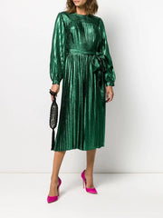 Marc Jacobs Green Lame Holiday Dress
