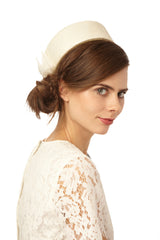 Genevieve Rose Atelier Pillbox Hat for Courthouse Wedding