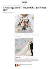 9 Weddings Trends that are OUT for Winter 2019 Genevieve Rose Atelier