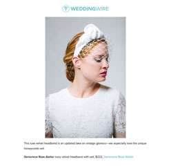A Glossary of Wedding Hair Accessories Weddingwire and Genevieve Rose Atelier