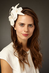 Maxima Silk Orchid Headband by Genevieve Rose Atelier