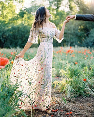 Floral Wedding Dress for a Garden Wedding