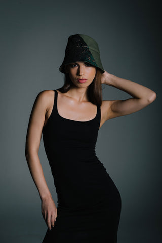 Calvert Camo Bucket Hat by Genevieve Rose Atelier