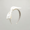 Cayetana Oversized Silk Bow Bridal Headband by Genevieve Rose Atelier
