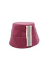 Cowley Burgundy Rain Hat by Genevieve Rose Atelier
