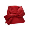 Edith: Red Rain Hat with Large Bow