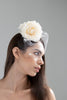 Elisabetta: Silk Rose and Spot Birdcage Veil Bridal Comb