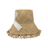 Gillam Frayed Raffia Bucket Hat by Genevieve Rose Atelier