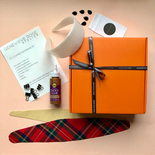 DIY Plaid Headband Kit by Genevieve Rose Atelier
