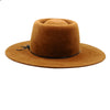 Hutton: Bronze Felt Gaucho with Polka Dot Under Brim