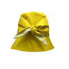 Huxley Yellow Silk Bucket Hat by Genevieve Rose Atlier