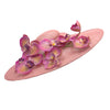 Istabraq Pink Derby Hat with Orchids by Genevieve Rose Atelier