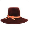 Katrien Burgundy Felt Pilgrim Hat by Genevieve Rose Atelier