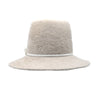 Luna: Large Winter White Fuzzy Felt Hat