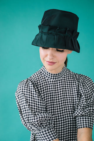 Maudie Green Rain Hat by Genevieve Rose Atelier