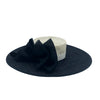 Black and White Derby Boater Hat with Bows by Genevieve Rose Atelier