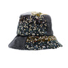 Patti: Patchwork Floral Corduroy Bucket Hat