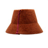 Penelope: Rust Red Fuzzy Felt Bucket Hat