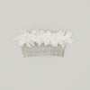 Tiny Velvet Bow Bridal Comb by Genevieve Rose Atelier