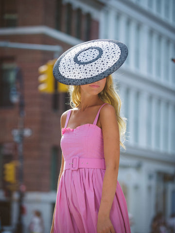 Landaluce Spot Derby Disc Hat by Genevieve Rose Atelier