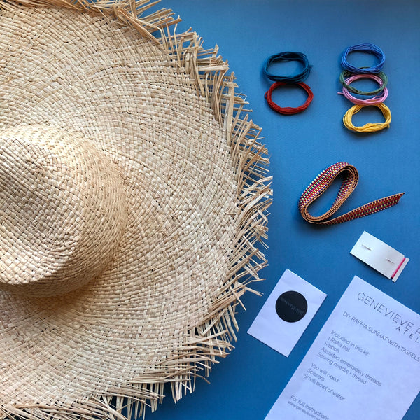 How to Make Tassels DIY Raffia Hat Kit by Genevieve Rose Atelier