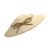 Ribot Small Straw Pyramid Hat with Gold Bow by Genevieve Rose Atelier