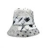 Rokeby Black and White Japanese Cotton Bucket Hat by Genevieve Rose Atelier