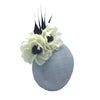 Shergar Ice Blue Derby Fascinator with Poppies