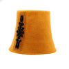 Twiggy: Orange Felt 1960s Cloche Hat
