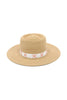 Baudin Natural Straw Gaucho Hat by Genevieve Rose Atelier
