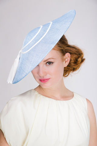 Genevieve Rose Atelier Pyramid Shape Derby Hat with Tassels